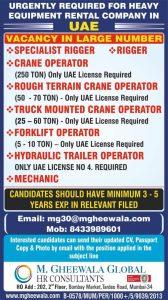 G-gheewala mumbai vacancy