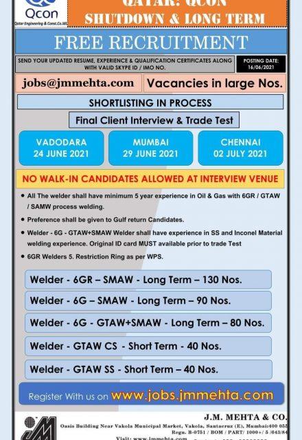 Qatar QCON Jobs Shutdown Free Recruitmant
