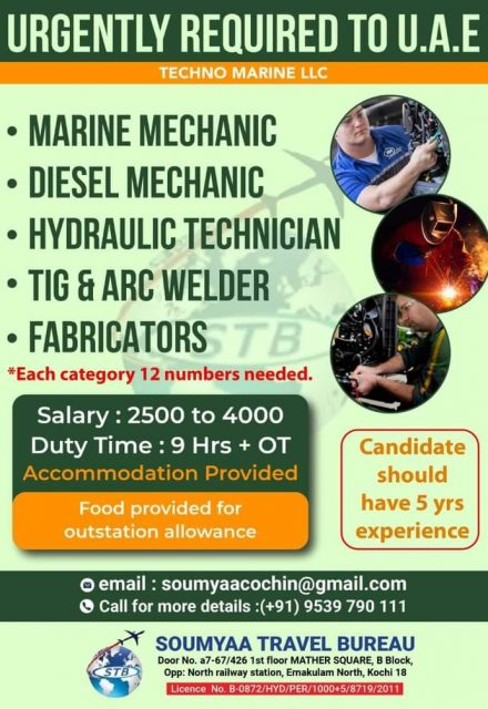 WALK IN INTERVIEW AT COCHIN FOR UAE