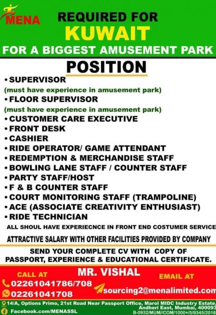 WALK IN INTERVIEW IN MUMBAI FOR A LEADING COMPANY IN KUWAIT